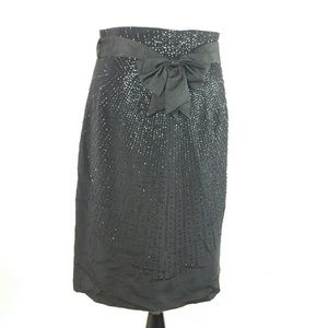 Nanette Lepore beaded front skirt with bow 10